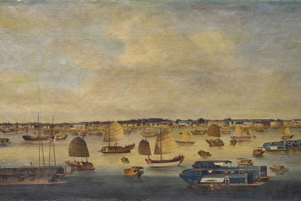 """""""Vue du front de mer à Honam"""" , tableau mis en vente à Besançon dimanche 17 octobre"""