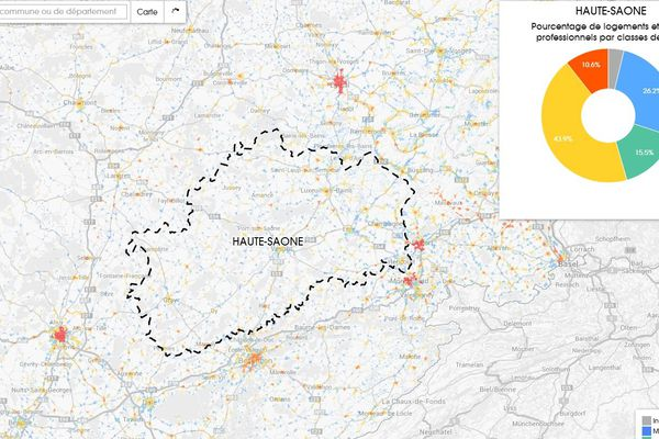La Haute-Saône est pour l'instant le département le plus lent en Franche-Comté...en ce qui concerne le haut-débit !