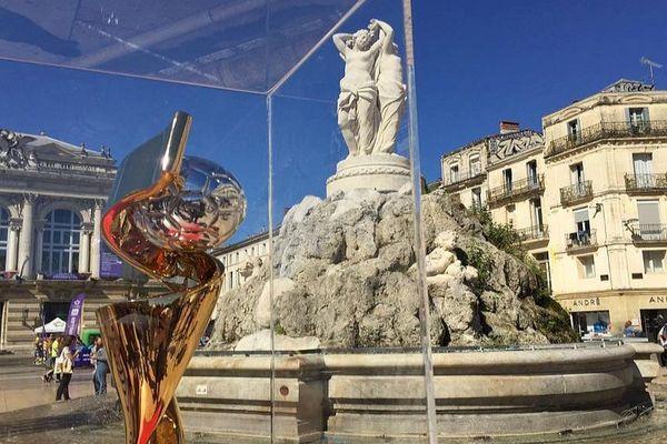 Montpellier - le trophée de la Coupe du monde de football féminin - 22 mai 2019.