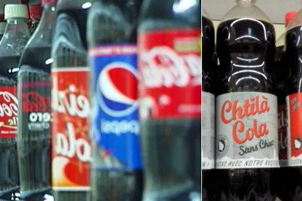 30 marques de coca sur le marché en France, dont le Chtilà Cola.