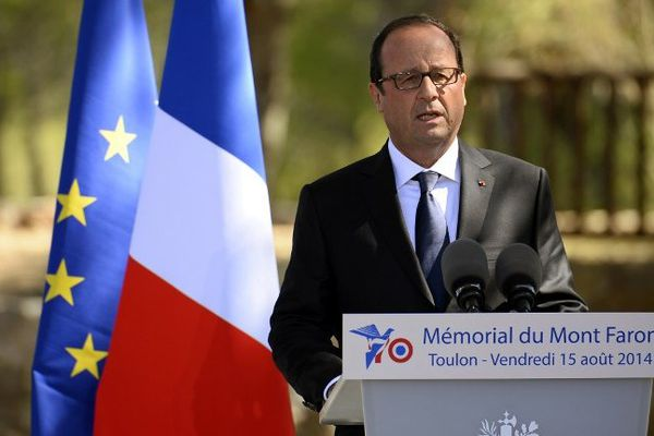 François Hollande, à Toulon, le 15 août 2014