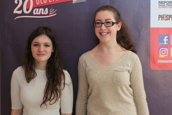 Inès Legrand et Solenne Finot, du lycée Victor Hugo à Caen, 1er prix de la finale régionale du concours de plaidoiries des lycéens