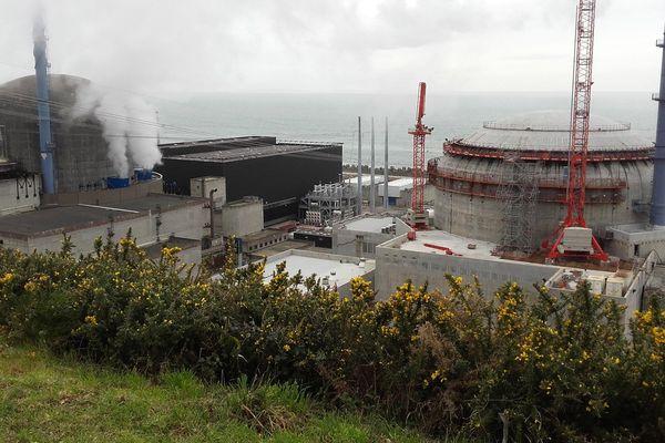 Le chantier de l'EPR de Flamanville dans la Manche