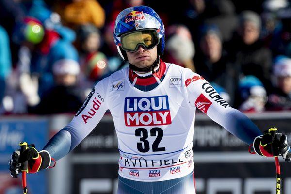 Alexis Pinturault lors des Mondiaux de ski le 7 mars 2020 à Kvitfjell, en Norvège.