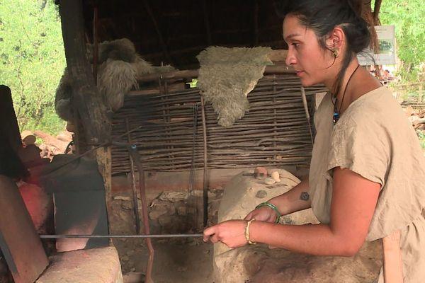 L'atelier du verre à l'archéosite Randa Ardesca