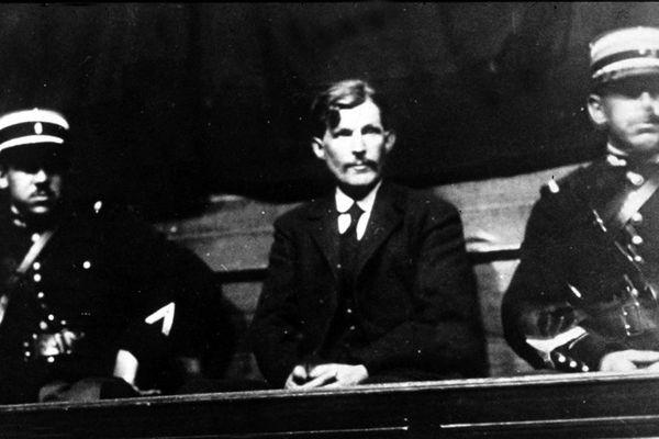 Guillaume Seznec lors de son procès à Quimper, en 1924