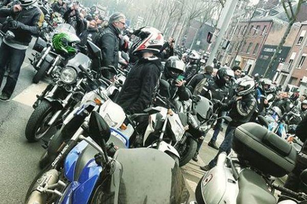 Début mars, plusieurs centaines de motards avaient bloqués l'accès à la gare d'Amiens pour protester contre le passage aux 80 km/h.