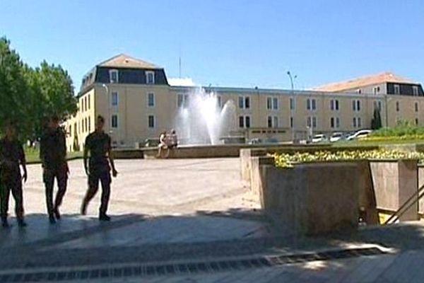 Carcassonne - la caserne du 3e RPIMa - juin 2014.
