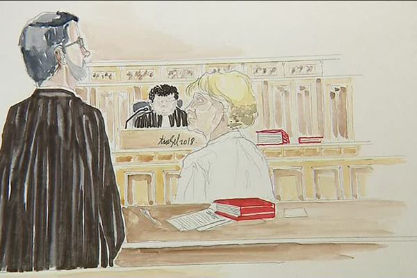 Claudine Schmidt-Lainé à son procès à Rouen le 4 juillet 2018