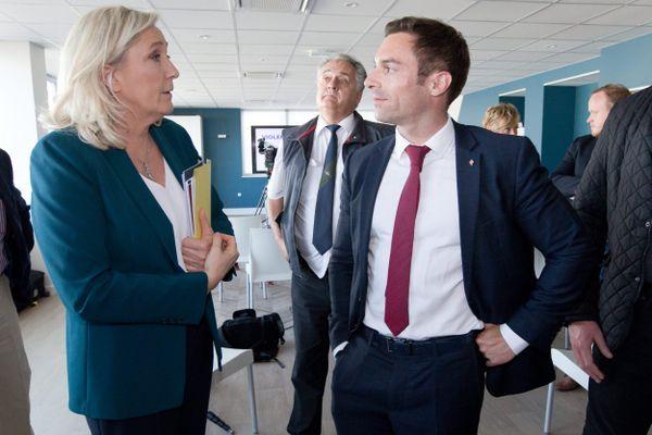 Marine Le Pen venue soutenir Julien Odoul, tête de liste des régionales en Bourgogne-Franche-Comté