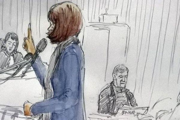 Dessin de Jade à la barre, le 3 février 2015 au palais de justice de Lille