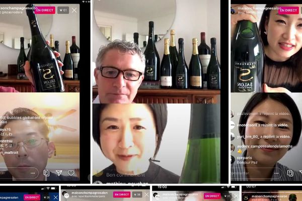 Les différents live IGTV du Champagne Delamotte