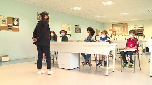 Les élèves du Collège Jean-Pierre Vernan à Toulouse.