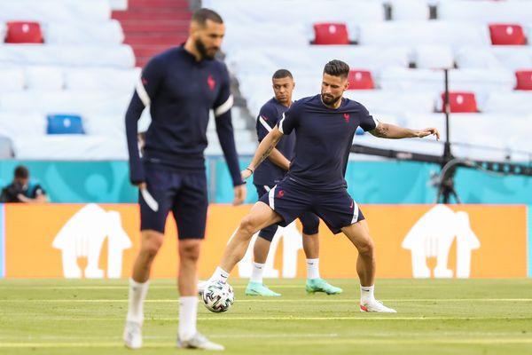 L'équipe de France à l'entraînement avant son premier match de l'Euro face à l'Allemagne