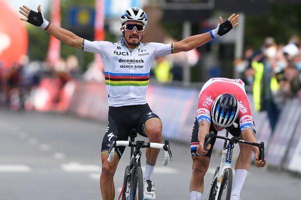 En Belgique, Julian Alaphilippe a remporté mercredi 7 octobre la Flèche Brabançonne.