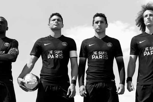 """Le maillot """"Je suis Paris"""" du PSG."""