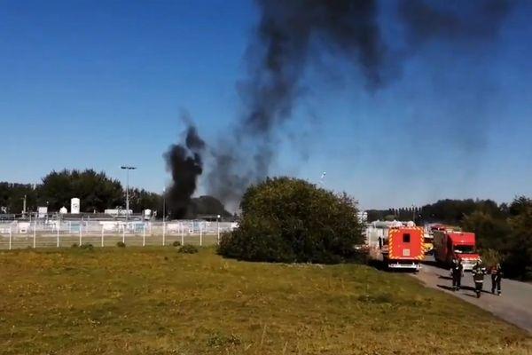 L'incendie s'est déclaré vers 17h15 ce jeudi.