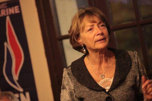 """Lydia Schenardi, ancienne patronne de FN dans les Alpes-Maritimes. a renvoyé sa carte de membre """"vendredi"""""""