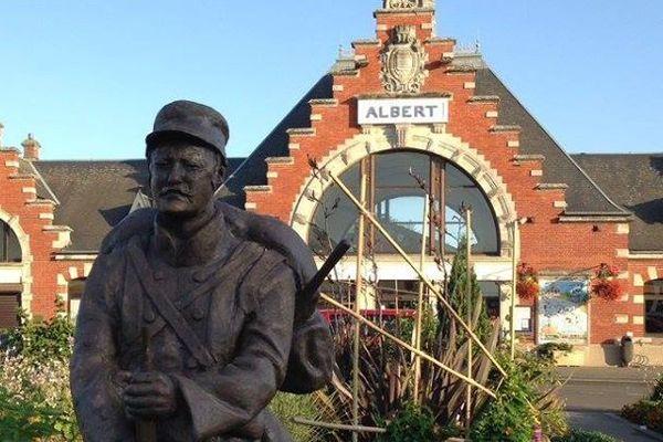 La ville d'Albert, dans la Somme, a été détruite à 90% pendant la première guerre mondiale.