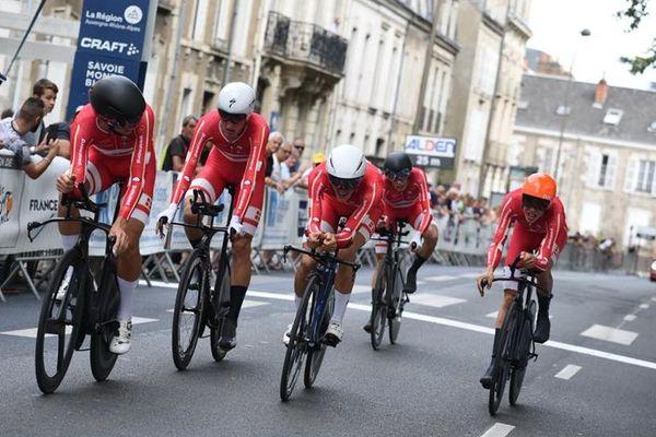 Le Danemark a remporté le contre-la-montre de la 4e étape du Tour de l'Avenir 2018, lundi 20 août