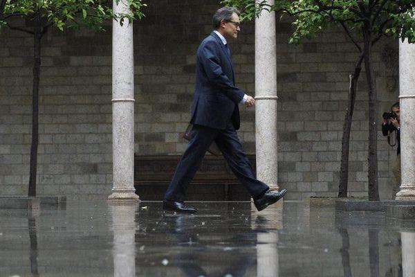 Artur Mas, le président de la Catalogne a déclenché la bataille juridique. Barcelone le 30 septembre 2014.