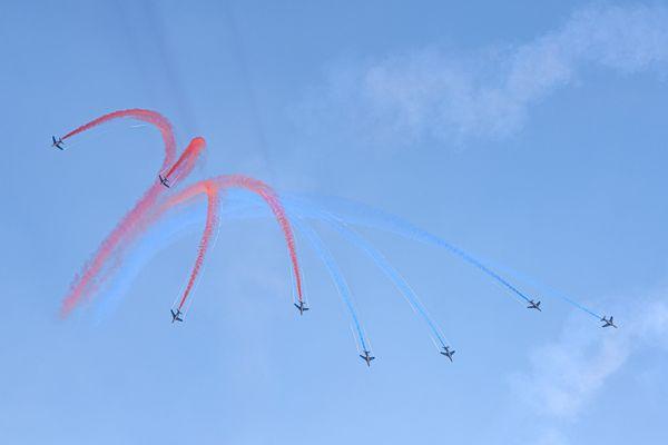 La Patrouille de France dans le ciel de Luxeuil