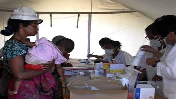 Soins pour des enfants d'Antananarivo à Madagascar lors d'une mission de PUI