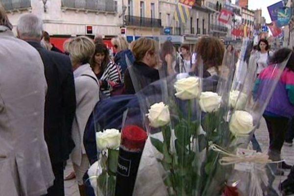 Une marche blanche a été organisée samedi 4 octobre 2014 en hommage à Céline, une SDF de 30 ans, morte dans la rue à Dijon