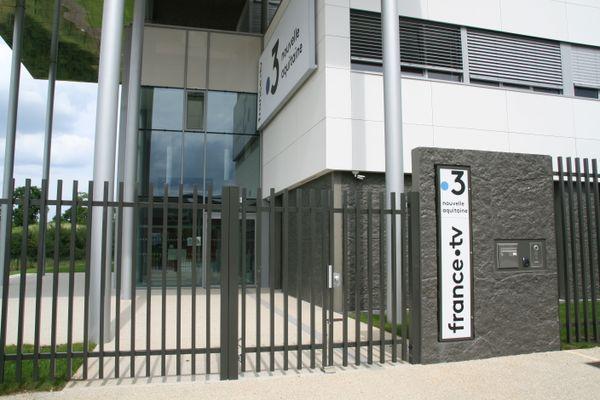 Entrée de la nouvelle station de France 3 Poitou-Charentes - 35, rue Léopold Sédar Senghor - 86000 POITIERS
