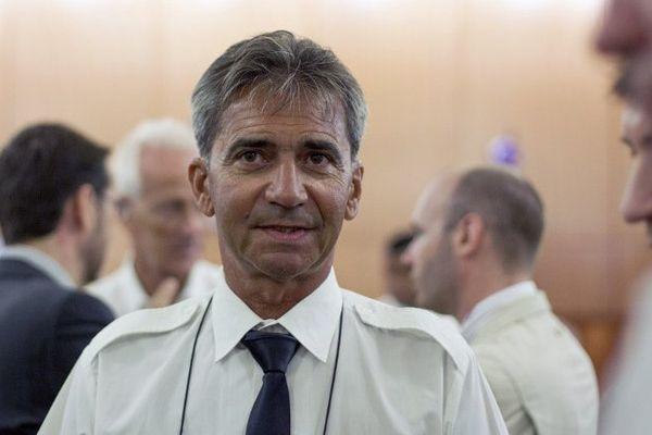 Bruno Odos est arrivé peu avant 9 heures au palais de justice.