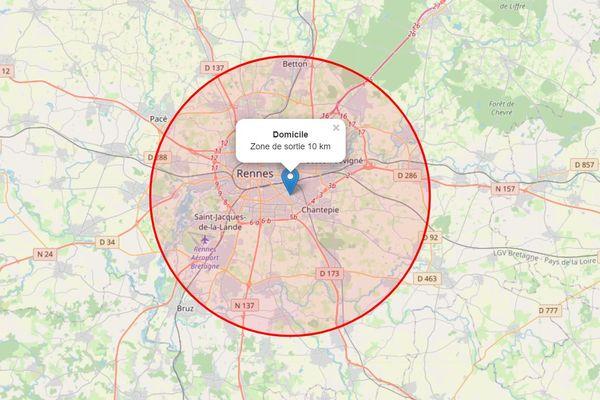 A partir du 5 avril et pour une durée de 3 semaines sur toute la France, les sorties ne peuvent se faire que sur une zone de 10 km
