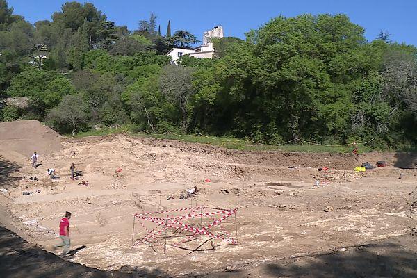 Nîmes - Le chantier a été lancé préventivement par l'Inrap.avril 2021.