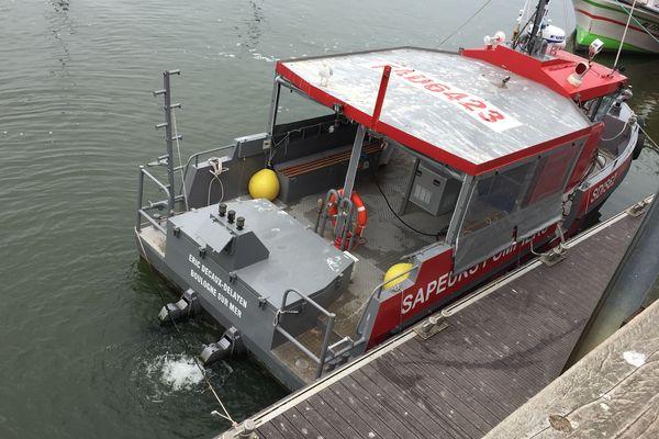 Le bateau des sapeurs-pompiers du Pas-de-Calais
