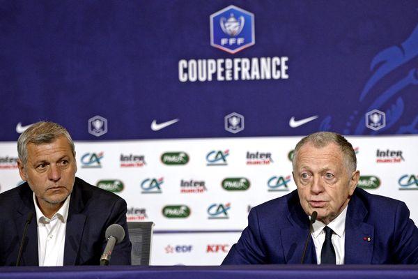 La mine des mauvais jours : Jean-Michel Aulas et Bruno Genesio côte-à-côte ...