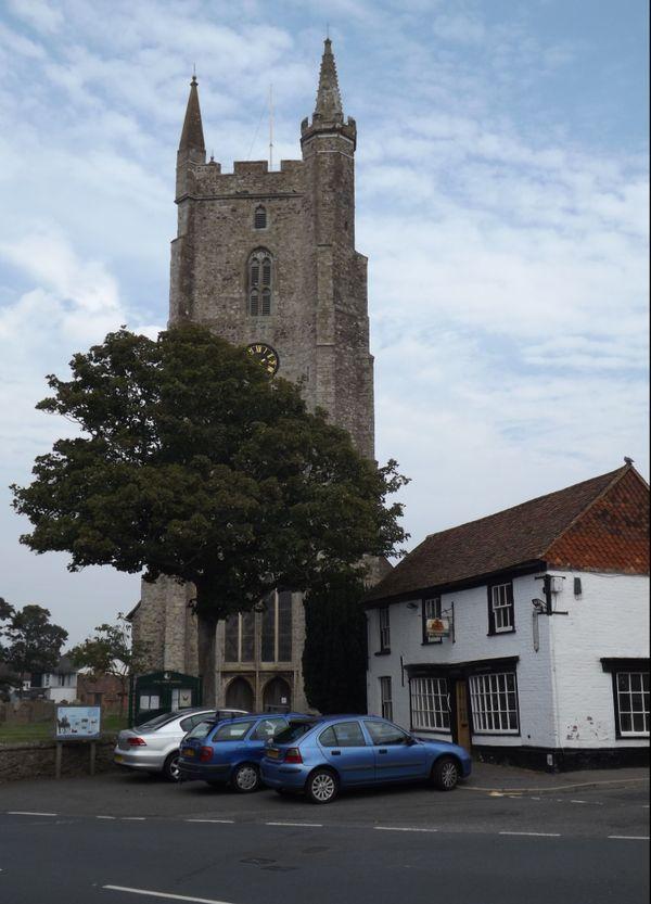 Le village de Lydd (Kent) de nos jours.