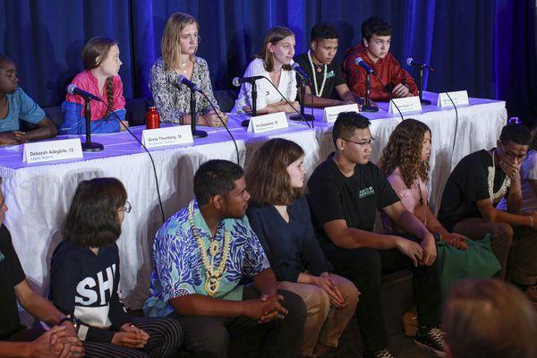 Les jeunes, dont Iris Duquesne, présents à l'ONU à  New York pour porter plainte contre cinq pays.