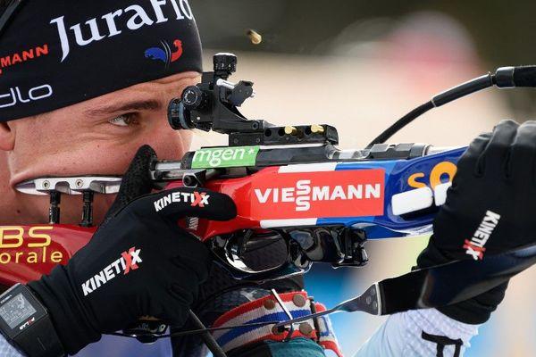 """Après sa victoire dans la """"mass start"""" du 26 janvier en Slovénie, le Jurassien Quentin Fillon-Maillet aligne 6 podium pour cet hiver."""