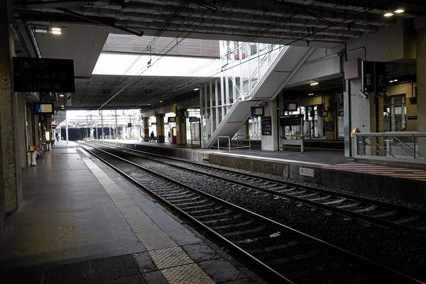 La gare Saint Roch à Montpellier risque encore d'être assez peu fréquentée à cause de la grève - janvier 2020.