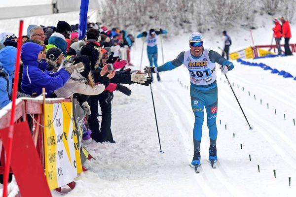 Championnats de France de ski de fond à Prémanon, le 1er avril 2018.
