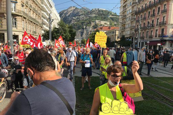 La manifestation s'est déroulée jeudi 17 septembre 2020, à Grenoble.