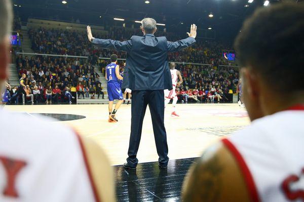 Vincent Collet, le coach de Strasbourg, le 29 octobre 2016.
