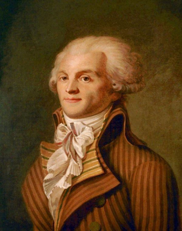 Portrait de Robespierre vers 1790.