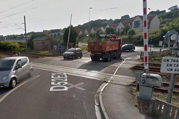 L'accident s'est produit à un passage à niveau au niveau de la rue Edouard Vaillant à Outreau