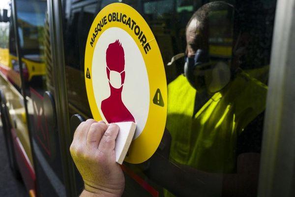 Plusieurs agressions liées au port du masque obligatoire ont eu lieu ces dernières semaines, notamment dans les transports. (Photo d'illustration)