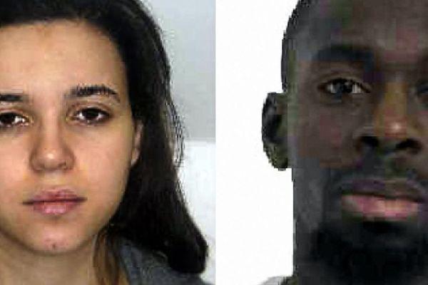 Hayat Boumeddiene et Amédy Coulibaly