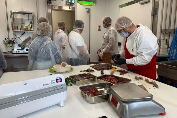 Une visite du pôle viandes a été spécialement organisée le 10 août 2020 à destination des restaurateurs