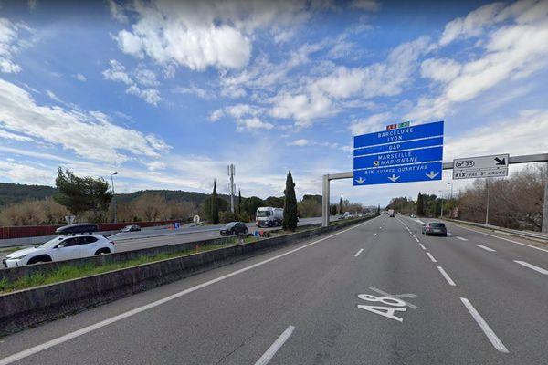 Suite à un accident grave, la circulation sur l'autoroute A8 est coupée