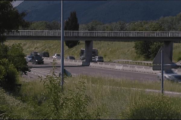 L'A7 à la hauteur de l'incident- 5 juin 2016