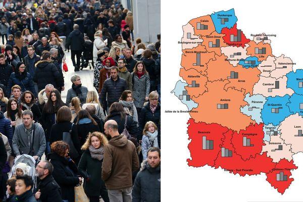 La population de la région Hauts-de-France connaît une croissance très faible depuis 20 ans