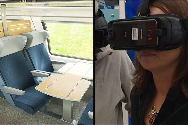 Sur la Foire de Caen, il est possible visiter les futurs trains normands via un casque de réalité virtuelle